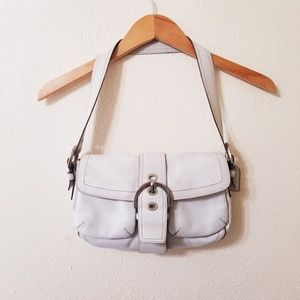 Coach Leather Hobo Purse Ivory Off White Bag